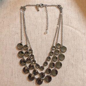 WHITE HOUSE BLACK MARKET 3 Chain Circle Necklace